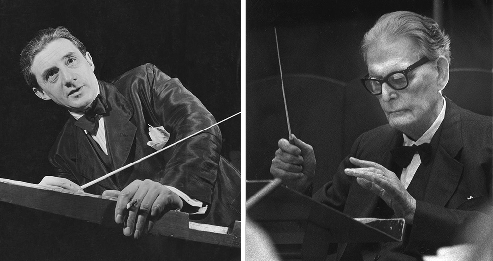Conductors Sir John Barbirolli and Otto Klemperer