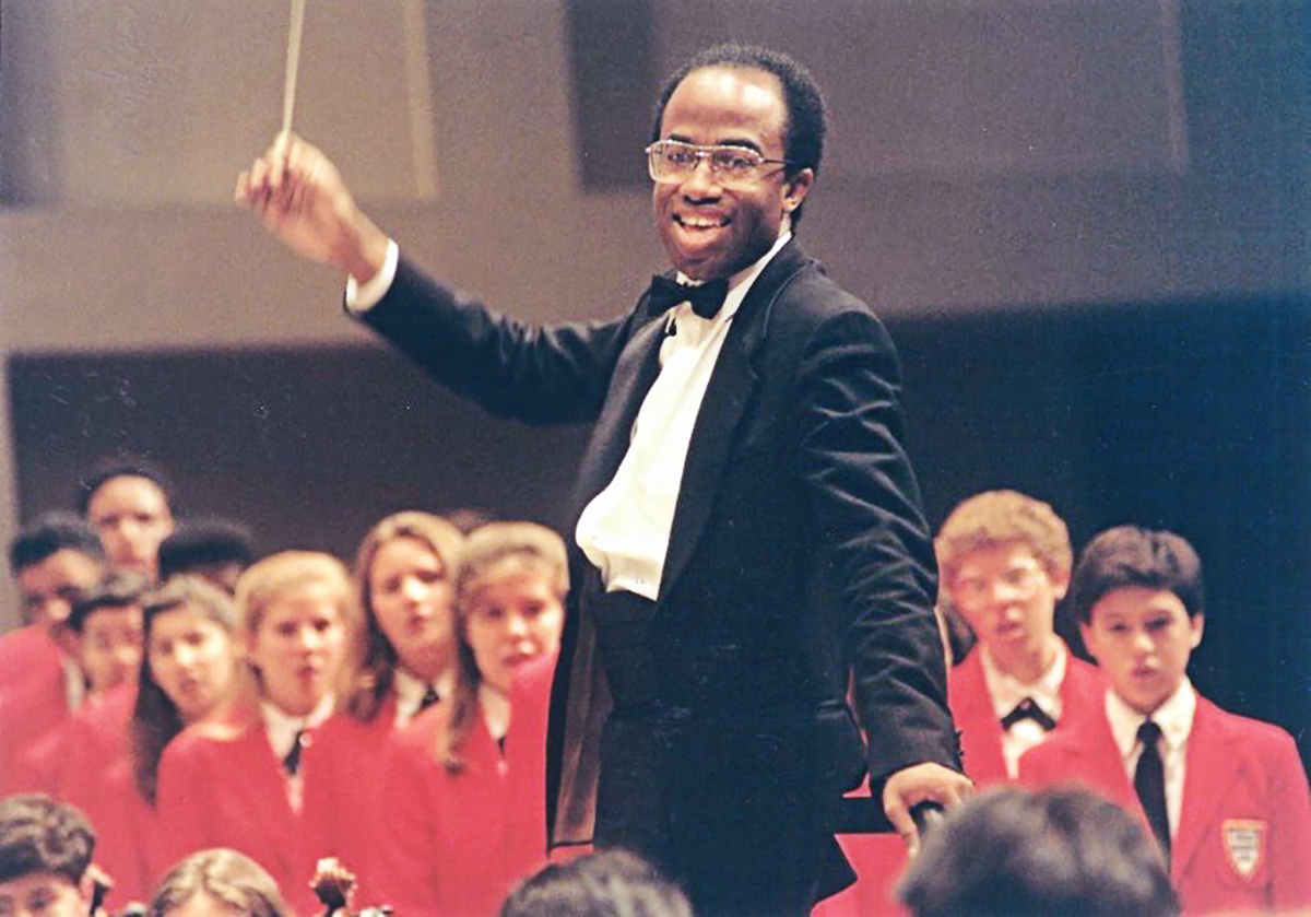 Michael Morgan leads CYSO and Chicago Childrens Choir in 1992 tour of Japan