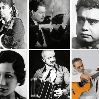 photo collage of Hispanic-Latinx composers
