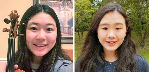 Photos of Laney Kang and Abigail AuYeung